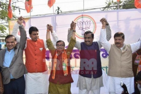Scamster Himanta's Tripura sojourn pollute State BJP's clean image