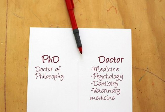 A Doctor is a Doctorate, PhD or MD