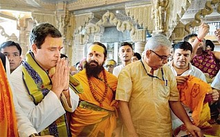 Perhaps Rahul should visit mosques and churches as well