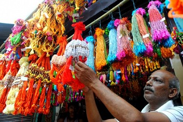 A hawker selling Rakhi for Raksha Bandhan festival. TIWN Pic July25