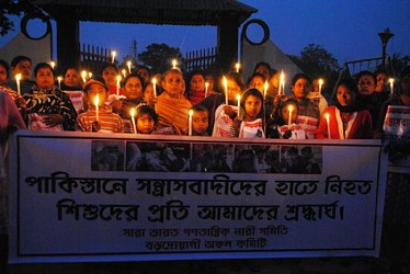 AIDWA holds candle light rally at Agartala.TIWN Pic Dec 17