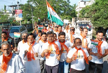 BJP conducts run for unity rally at Agartala. TIWN Pic Oct 31