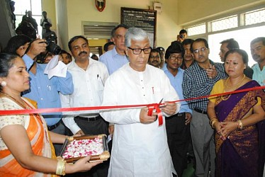 CM Manik Sarkar inaugurating a handicraft exhibition SHG. TIWN Pic July27