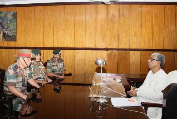 Assam Rifles Lt. Gen. Rawat calls on Chief Minister