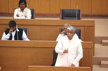 CM replying in assembly session on Monday. TIWN Pic March 10