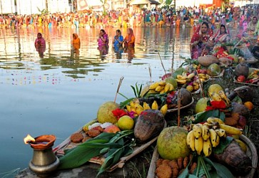 Chhath Puja celebrated in Agartala. TIWN Pic Oct 29