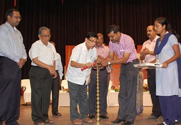Finance Minister Badal Chowdury inaugurating School Children workshop at Rabindra Bhawan.TIWN Pic Sept 19