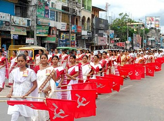 Funeral procession of CPIM leader Chita Chand. TIWN Pic July 29
