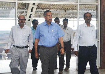 General Manager of Northeast Frontier Railway construction Rajesh Kumar Singh arrived at Agartala. TIWN Pic April 20