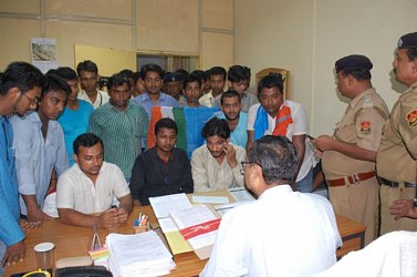 NSUI members ghereod Higher Education Director at Higher Education office in Agartala. TIWN Pic Sept 19