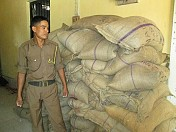Kakraban police recovered 2100 kgs rice from Gangachhera