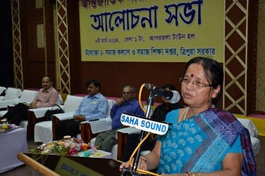 Chairperson of Women Commission Purnima Roy addressing International Womens Day