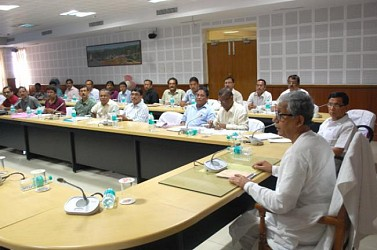 Review meeting of Public Works Department at Secretariet Conf Hall. TIWN Pic Sept 16