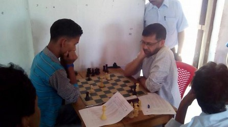 Today State meet chess competition at sabroom started from 9 am. TIWN Pic April 18