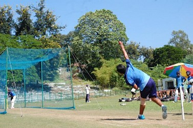 Tripura under 19 cricket team prepares ahead of Bijoy Hazara Trophy at MBB Stadium. TIWN Pic Oct 25