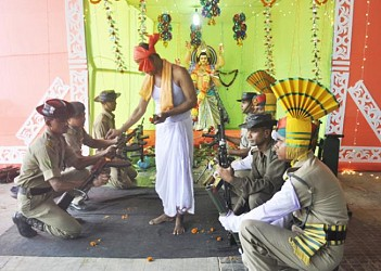 Biswakarma Puja is being celebrated by TSR 1st Battalion. TIWN Pic Sept 17