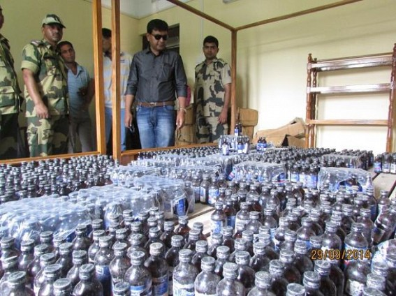 SDM Sonamura and  BSF  joint raid seizes Rs. 10 Lakhs Phensedyl