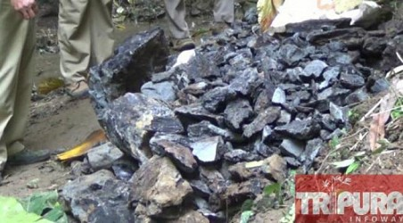 Coal reserves found at Unakoti range, Tailenbari area. TIWN Pic Dec 19
