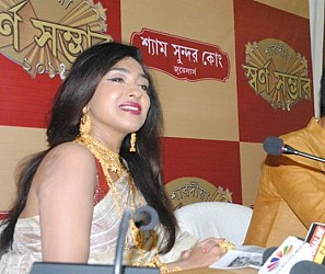 Filmstar Rituparna Sen speaking at the promotional event. TIWN Pic Sept 18