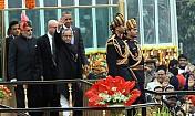 Obama attends 'At Home' at Rashtrapati Bhavan