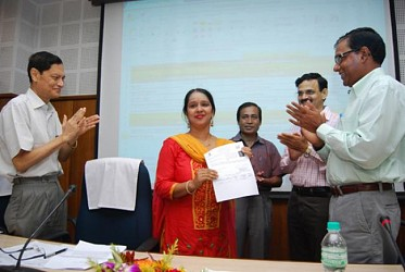 M.Nagaraju inaugurates Online food license and registration system at Pragna Bhawan. TIWN Pic Aug 26