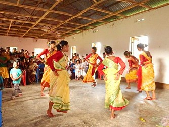 Cultural program at Mohanpur. TIWN Pic July 2