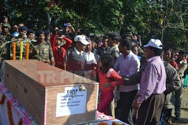 Last farewell given to Martyr Chittaranjan Debbarma.TIWN Pic Dec 2