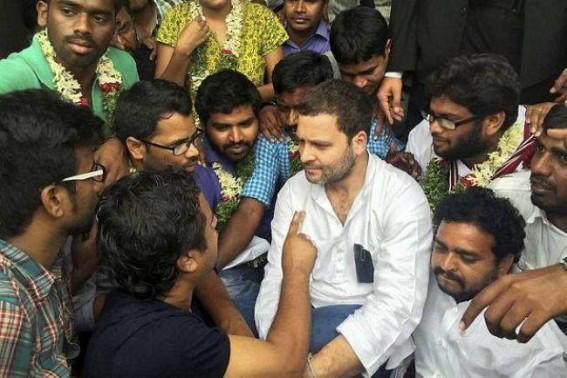 Rahul visits engineering college professor on hunger strike