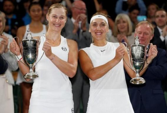 Russia's Vesnina-Makarova win Wimbledon doubles title