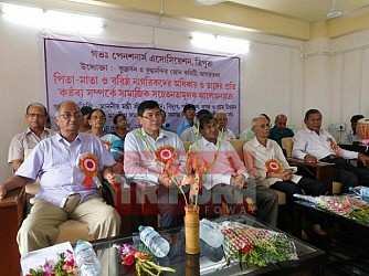 Discussion on children's role in parents lives held at Gorkhabosti. TIWN Pic July 27