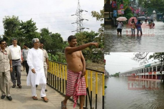 Tripura Govt's FB account since 4 days of inauguration gave only 1 Update : 'CM visits Border areas to find our drainage-solution'  that was followed by Massive Flood on next day at Agartala !