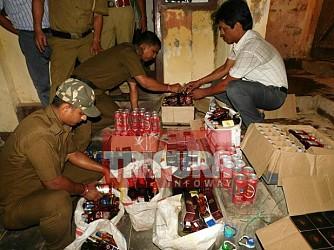 SDM raided various shops in Agartala ahead of Diwali. TIWN Pic Oct 18