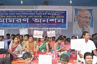Disgruntled SSA Teachers are Back to chase Manik's CPI-M Govt ! New jolt for Tapan, Manik as SSAs to organize mega protest demanding Regularization