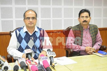 Tripura Election : Press meet conducted by Election Commission. TIWN Pic Dec 15