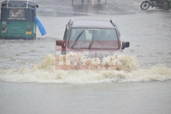 'City' life turns 'Shitty' : Public swimming, vehicles boating on Agartala streets as monsoon continues to shower over Northeast