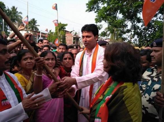 Roopa Ganguli campaigns at South Tripura