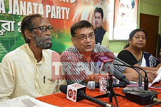 BJP held press meet. TIWN Pic Aug 22