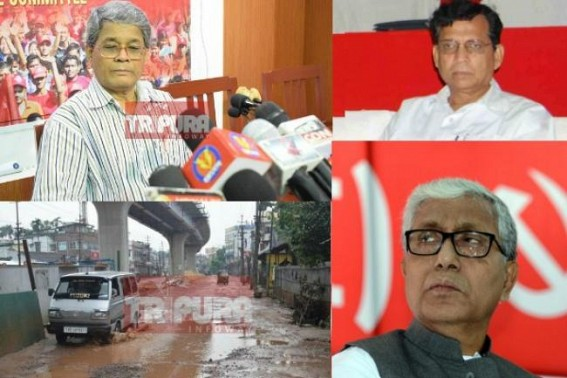 After gifting public Battala to Nagerjala mess, North Tripura to South Tripura's broken National Highways in 25 yrs, CPI-M claims Tripura's National Highway belongs to Central Govt