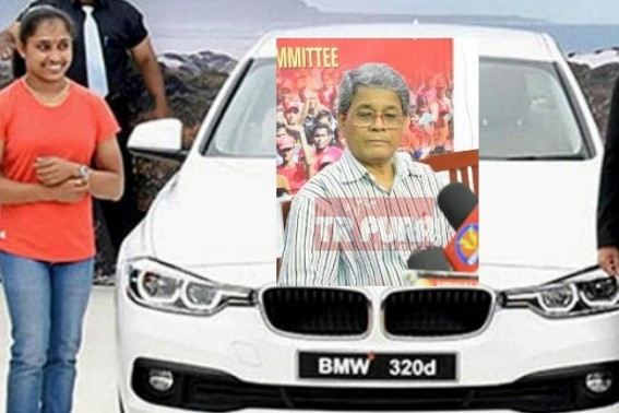 Dipa Karmakar's BMW wheeling Tripura's Political Campaigning : Bijan Dhar says, 'BMW can't run on Tripura roads ? But National Highway is  not ours'