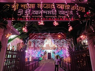 Anandamoyi Asram shining ahead of Diwali. TIWN Pic Oct 18