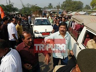 BJP's blockade in front of Secretariat continues. TIWN Pic Nov 23
