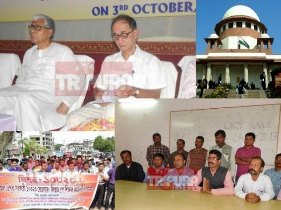 CPI-M Govt's '10323 Puppet Show' ends : Terminated teachers to block National Highway, Railway with full family if Tripura Govt does not take action within 48 hrs