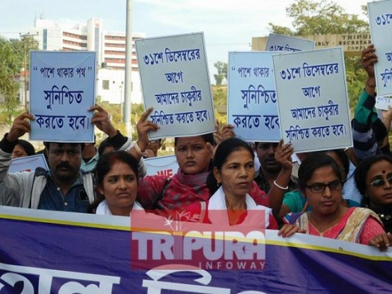 CPI-M's divide and role politics with Govt employees still successful from 10323 to SSA teachers : Confused terminated teachers fooling themselves by betraying blockade move