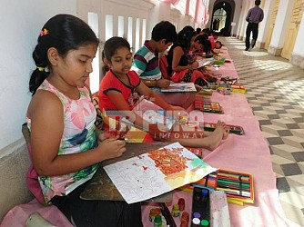 West DM's Office Recreation Club conducted Art Competition at Agartala. TIWN Pic Nov 19