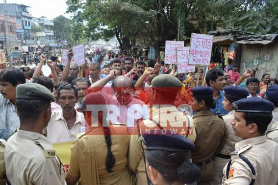 Tripura Terrorist Era's 'Udbastu' Bengali families begin mass demonstration demanding rehabilitation, compensation