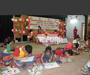 Sit & Draw competition organized by Agartala postal dept. TIWN Pic Sep 20