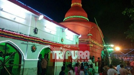 A view of Tripura Sundari Temple, Udaipur on the occasion of Diwali. TIWN Pic Oct 18