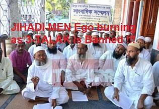 Banning of 3-Talak hits Jamiat Ulma's Jihadi Ego Hard ! What will Tripura's Mufti Tayebur Rahaman will do who warned to call 'turmoil' if Talak is banned ??
