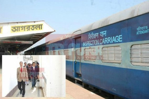 PM Modi's 'Act-East' Policy in action : Udaipur-Agartala Rail Service to commence soon : NFR officials expressed dissatisfaction over Agartala Railway Station, Udaipur visit on Thursday