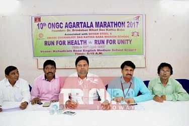 ONGC to organize marathon at Agartala. TIWN Pic April 27